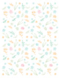 Pattern with spring flowers Stock Images