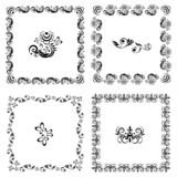 Pattern of square frames with an element in the middle royalty free illustration