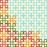 Pattern from square and rectangular shapes Royalty Free Stock Photography