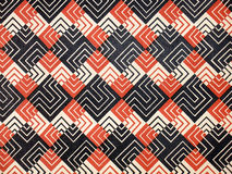 Pattern squares. Vintage pattern, wallpaper with labyrinth squares Royalty Free Stock Image