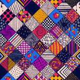 Pattern with squares Stock Image