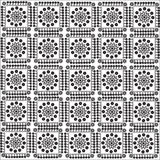 Pattern of squares. Ornament, composed of squares with flower patterns Stock Photography