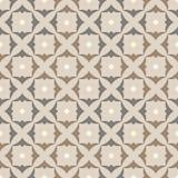 Pattern squares shamrocks, grey-beige Royalty Free Stock Images
