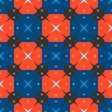 Pattern squares stars Royalty Free Stock Photo