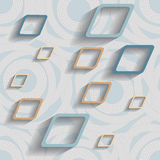 Pattern with squares Stock Photo
