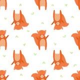 Pattern squirrel Stock Image