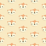 Pattern with squirrel. Royalty Free Stock Image