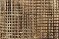 Pattern from stack of fittings grids at the construction site Stock Photo
