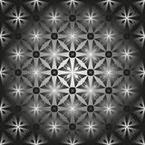 Pattern for Stained-glass window. Black and white pattern of the convex glass, tile or tiles Stock Photos