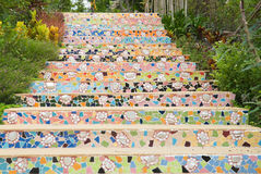 Pattern of stairs. Colorful pattern of stairs made from broken ceramic tile Stock Image