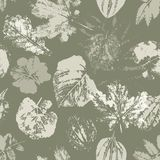 Retro   pattern with leaves Royalty Free Stock Photo