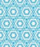 Pattern with star shapes in blue and white. Texture with hexagons and star shapes in blue and white. Texture for web, print, fashion fabric, textile, Jewish