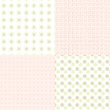 Pattern with stars and circles Royalty Free Stock Photos