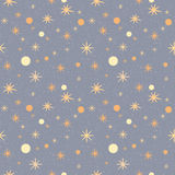 Pattern with stars on a grey speckled background Royalty Free Stock Images