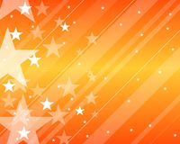 Pattern with stars orange Royalty Free Stock Photography