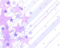 Pattern with stars and purple Stock Photo