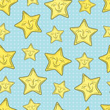 Pattern with stars Stock Photos