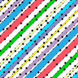 Pattern stars. Vector background. Stock Image