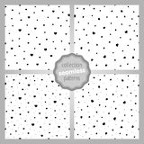 Pattern Static dynamic hearts dots. Сute seamless SET of patterns with static-dynamic hearts and dots. Love, romantic and Valentine`s Day background. Wrapping Royalty Free Stock Photos
