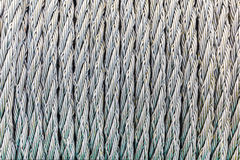 Pattern of steel cables Royalty Free Stock Images