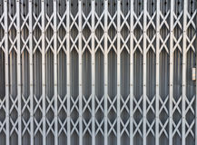 Pattern of steel door Royalty Free Stock Image