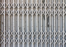 Pattern of steel door Royalty Free Stock Images
