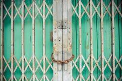 Pattern of Steel stretch door Stock Photos