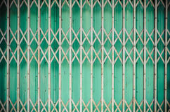 Pattern of Steel stretch door Royalty Free Stock Photo