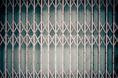 Pattern of Steel stretch door Royalty Free Stock Image