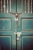 Pattern of Steel stretch door Royalty Free Stock Photos