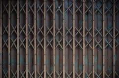 Pattern of Steel stretch door Stock Images
