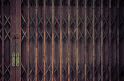 Pattern of Steel stretch door Stock Photography