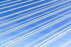 Pattern of steel wires of a modern bridge Stock Images