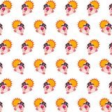 Commando piggy - sticker pattern 32. Pattern of a sticker commando piggy that can be used as a background, texture, prints or something else stock illustration