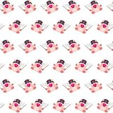 Commando piggy - sticker pattern 34. Pattern of a sticker commando piggy that can be used as a background, texture, prints or something else royalty free illustration