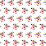 Commando piggy - sticker pattern 36. Pattern of a sticker commando piggy that can be used as a background, texture, prints or something else stock illustration
