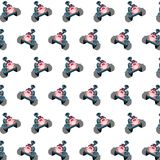 Commando piggy - sticker pattern 37. Pattern of a sticker commando piggy that can be used as a background, texture, prints or something else stock illustration