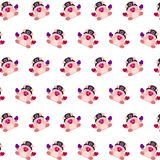 Commando piggy - sticker pattern 38. Pattern of a sticker commando piggy that can be used as a background, texture, prints or something else stock illustration