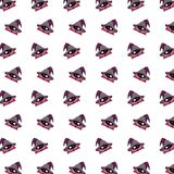 Little wizard - sticker pattern 36 stock illustration