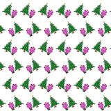 Santa bear - sticker pattern 22. Pattern of a sticker santa bear that can be used as a background, texture, prints or something else vector illustration