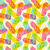 The pattern of sticks and triangles. Seamless beautiful pattern of sticks and triangles of CMYK Royalty Free Stock Photos