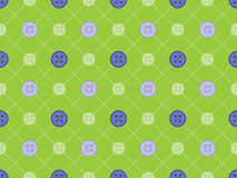 Pattern with stitches and buttons. Seamless pattern with stitches and buttons Royalty Free Stock Photo