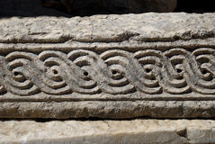 Pattern on the stone. Ancient patterns on the stone Stock Images