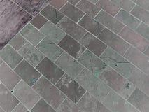 The pattern of stone block paving Stock Image