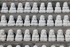 Pattern of stone buddhist monk statue in Sanbangsa Temple Royalty Free Stock Image