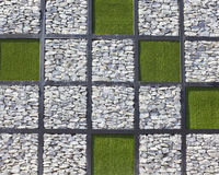 Pattern of stone and grass Royalty Free Stock Image