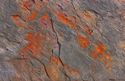 Pattern of a stone plate in gray and orange Royalty Free Stock Photos