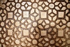 Pattern stone wall browen color, background stock photos