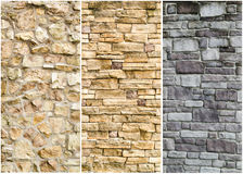 Pattern of stone wall surface Stock Photo