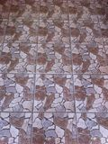 The pattern of the stones. Stone pattern on tile, interior design Stock Photo
